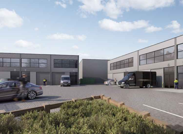 Chertsey Industrial Park, an industrial development managed by the London based property developers, Maclan Developments.